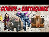 Earthquake The New Jump?! | Gowipe Attack Strategy with Earthquake Spell | Clash of Clans