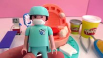 Le dentiste perce des dents argentées – Play Doh Dr Wackelzahn et dentiste Playmobil