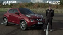 Nissan Juke and AVM technology set world-first J-Turn Record 'blindfolded'