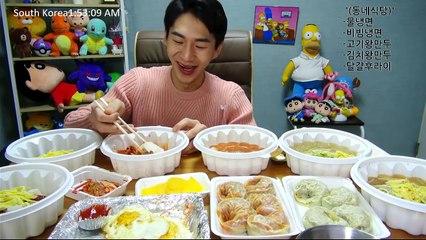Banzz▼Swollen throat went down! Mul & Bibim Naengmyun including Mandu! (Eating Show) 시원한 음식들! 물냉면, 비빔냉면, 그리고 만두까지!