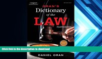 FREE [PDF] Oran s Dictionary of the Law Daniel Oran READ ONLINE