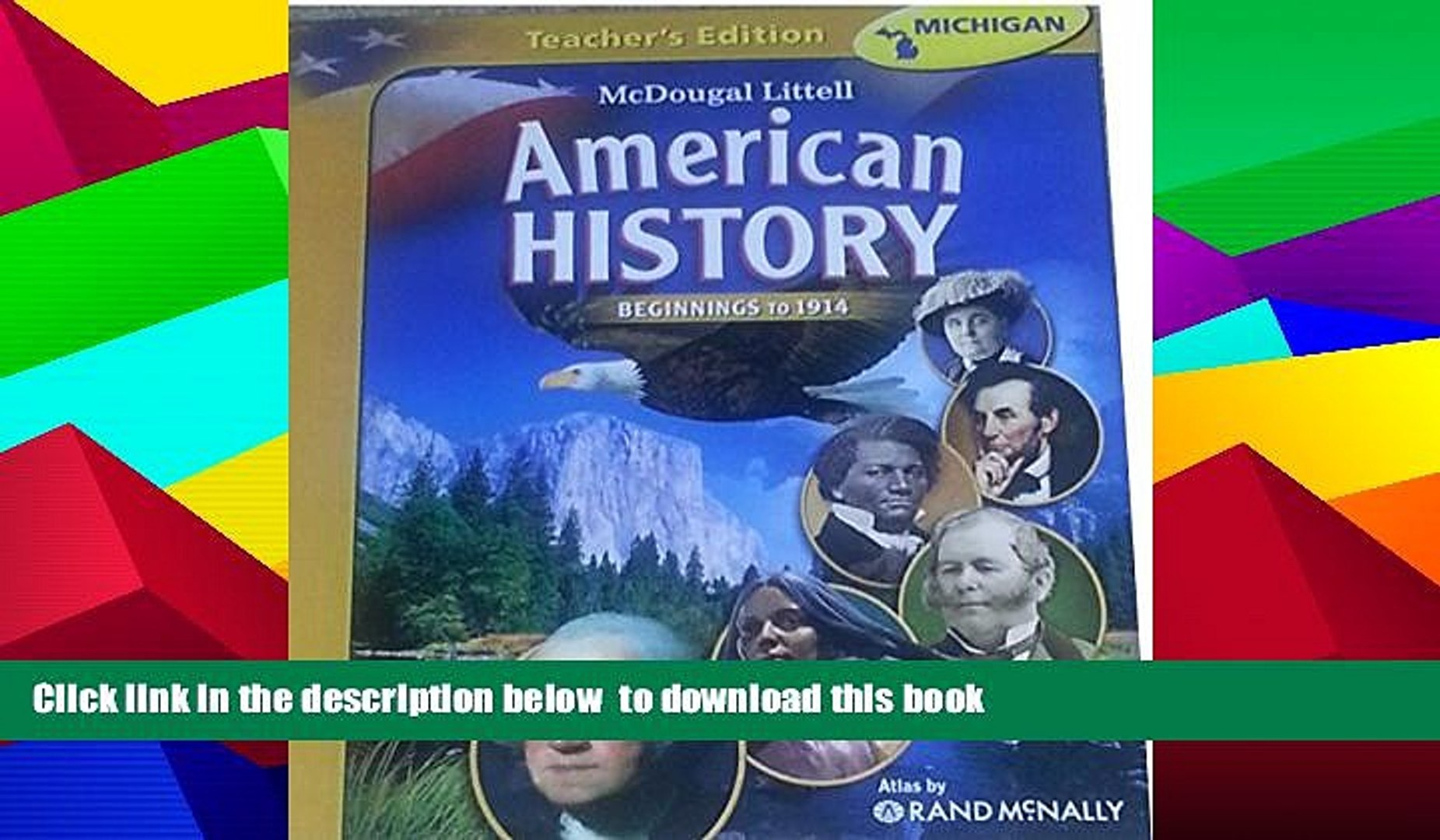 PDF [FREE] DOWNLOAD McDougal Littell Middle School American History:  Teacher Edition Beginnings