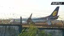 Jet Airways Flight Skids Off Runway During Take-Off in India