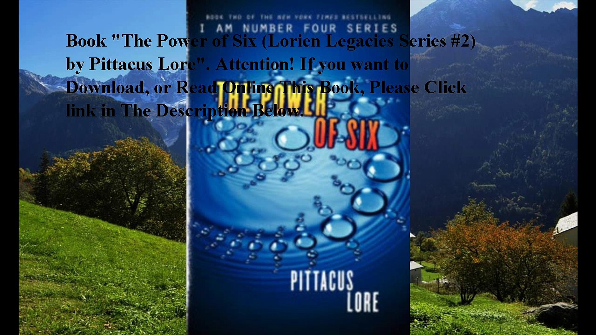 Download The Power of Six (Lorien Legacies Series #2) ebook PDF