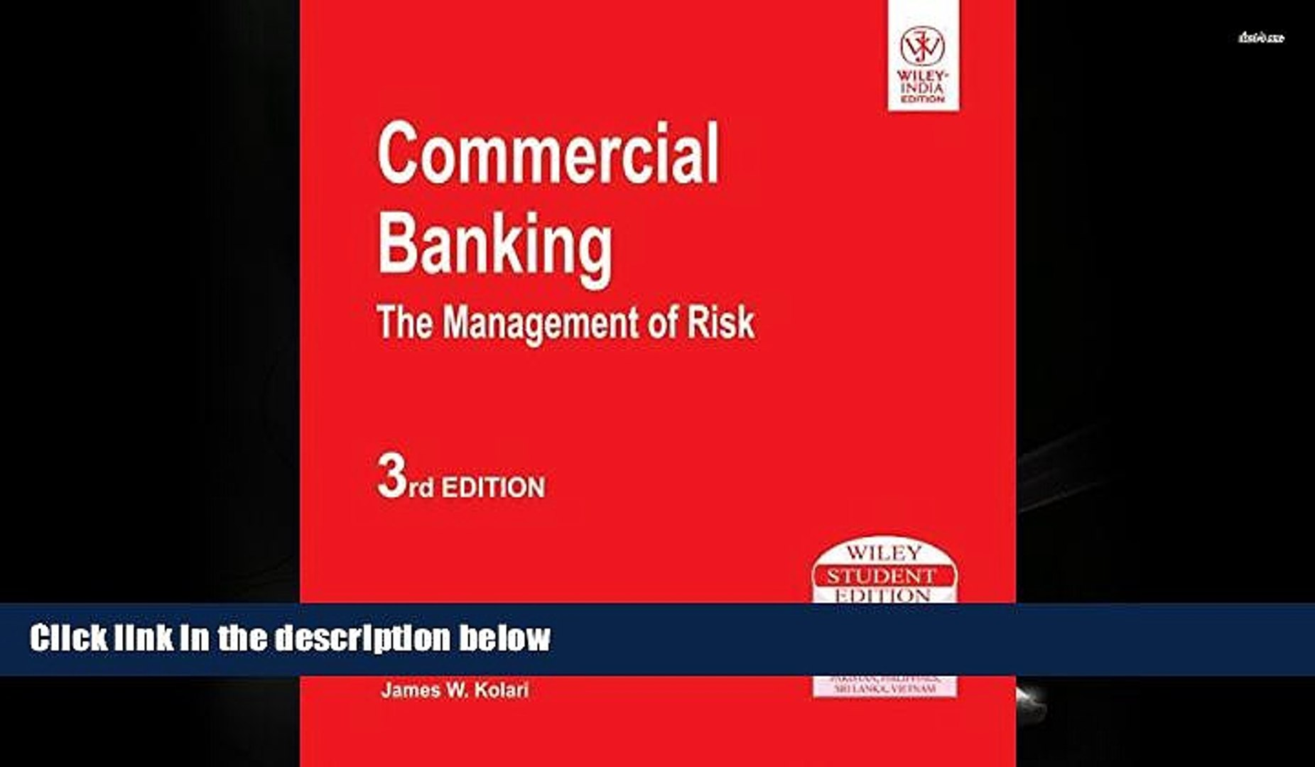 BEST PDF Commercial Banking: The Management of Risk DOWNLOAD ONLINE