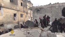 Syria war: More hardship for Syrians displaced from Aleppo
