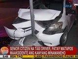 UB: Senior citizen na taxi driver, patay matapos maaksidente ang kanyang minamaneho