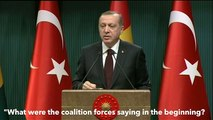 "Erdogan: ""evidenze confermate, foto e video del supporto USA all'Isis""."