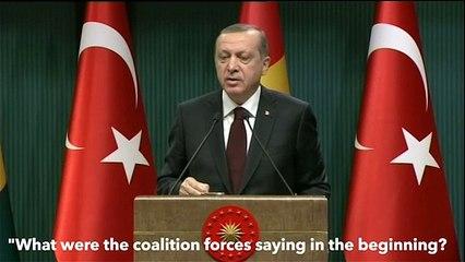 """Erdogan: """"evidenze confermate, foto e video del supporto USA all'Isis""""."""