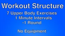 Home Upper Body Workout without Weights - Bodyweight Upper Body Workout for Beginners