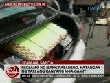24 Oras: Reklamo ng isang pasahero, natangay ng taxi ang kanyang mga gamit