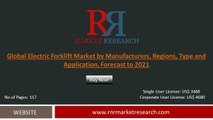 2016 Electric Forklift Market Evolution in the Research and Development Process Forecasts to 2021