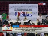 Incumbent Manila Mayor Joseph Estrada at dating Mayor Alfredo Lim, dikit pa rin ng laban