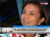 Rep. Leni Robredo, muling bumiyahe pauwi ng Naga sakay ng pampasaherong bus