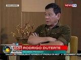 Incoming Pres. Duterte, binigyang-linaw ang ilang isyu sa isang exclusive one-on-one interview