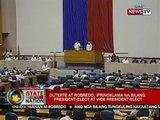 SONA: Duterte at Robredo, iprinoklama na bilang President-Elect at Vice President-Elect