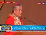CBCP Pres. Abp. Socrates Villegas, nagpaabot ng pagbati kay Pres. Duterte