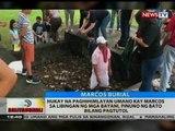 Hukay na paghihimlayan umano kay Marcos sa Libingan ng mga Bayani, pinuno ng bato bilang pagtutol