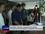 Saksi: President Duterte, dumalaw sa burol ng ama ni dating MMDA Chairman Tolentino