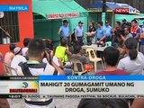 BT: Mahigit 20 gumagamit umano ng droga, sumuko
