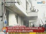 UB: Sunog sa isang gusali sa Katipunan Avenue sa QC, iniakyat na sa ika-5 alarma