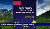 Free [PDF] Download The Political System of the European Union (European Union (Paperback Adult))