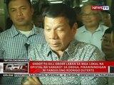 Shoot to kill order laban sa mga lokal na opisyal na sangkot sa droga, pinaninindigan ni Duterte