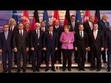Turkish PM Davutoglu visits German Chancellor Angela Merkel