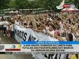 BT: Ilang grupo, tutol sa pagpapalibing kay Marcos sa Libingan ng mga Bayani