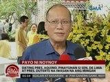 24 Oras: Dating Pres. Aquino, pinayuhan si Sen. De Lima at Pres. Duterte na iwasan ang iringan