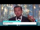 Leonardo DiCaprio wins his first Oscar, Charlotte Dubenskij reports