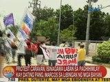 Protest caravan, isinagawa laban sa paghihimlay kay dating Pang. Marcos sa Libingan ng mga Bayani