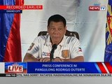 NTVL: Press conference ni Pangulong Rodrigo Duterte