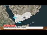 Blasts kill at least 41 people in Yemen, Mohammed Alattab Ali reports