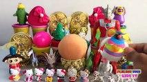 PLAY DOH SURPRISE BALL, EGGS, Dalmatians, The Good Dinosaur, Hello Kitty   Kids Toys Videos