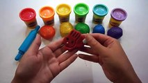 Modelling Clay Play Doh Sparkle Rainbow Rabbits Fun and Creative for Kids Learn colors