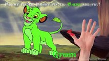 Lion King Simba Finger Family Nursery Rhymes Songs | Learning Colors for Children with Simba
