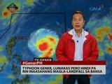 24 Oras: Typhoon Gener, lumakas pero hindi pa rin inaasahang magla-landfall sa bansa