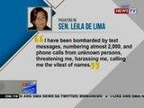 NTG: Pahayag ni Sen. Leila de Lima