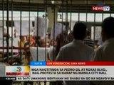 BT: Mga nagtitinda sa Pedro Gil at Roxas Blvd., nag-protesta sa harap ng Manila City Hall
