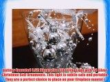 Battery Operated Cool White LED String Lights with Silver Christmas Ball Christmas Lights Party