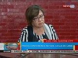 BP: Press conference ni Sen. Leila de Lima