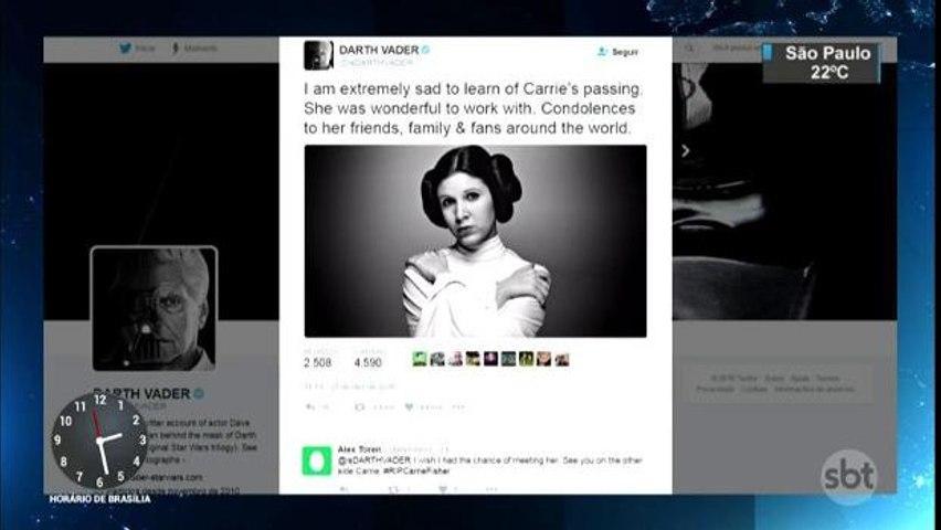 Morre a atriz Carrie Fisher, a eterna Princesa Leia de `Star Wars`
