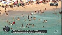 Rio de Janeiro registra sensação térmica de quase 50ºC