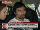 24 Oras: Manny Pacquiao, hindi nababahala kahit 10 taon ang tanda niya kay Jessie Vargas