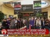UB: Manny Pacquiao at Jessie Vargas, sinalubong ng fans sa Las Vegas