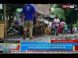 Maputik na daan dulot ng malakas na ulan, sumalubong sa mga dumadalaw