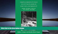 Download [PDF]  Implementing Sustainable Development: From Global Policy to Local Action For Ipad