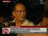 Dating Pres. Noynoy, dumalo sa concert kontra sa paglibing kay Marcos sa Libingan ng mga Bayani
