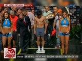 24 Oras: Pacquiao at Vargas, kapwa pasok sa timbang para sa WBO Welterweight Division